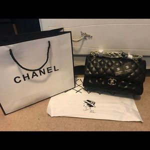 Handbags - CHANEL Style Double Flap Genuine Leather